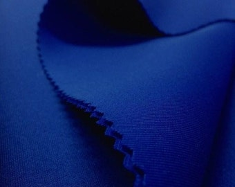 """Royal Blue 58/60"""" Wide 90% Polyester / 10 percent Spandex Neoprene Scuba Fabric Sold By The Yard."""