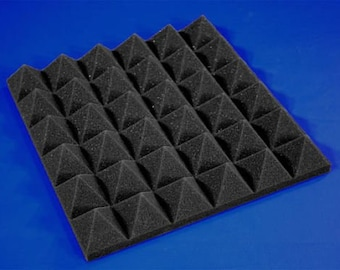 48 Pack of (12 X 12 X 2)inch Acoustical Pyramid Foam