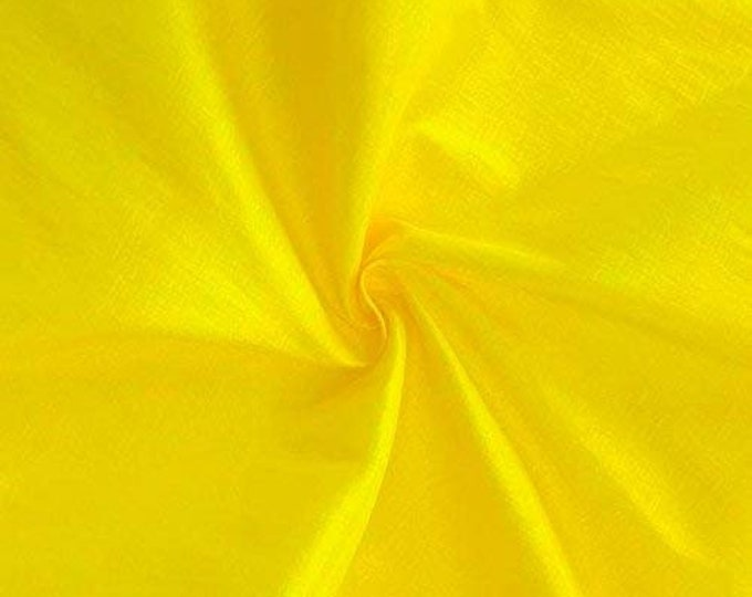 """Yellow 58"""" Wide Medium Weight Stretch Two Tone Taffeta Fabric, Sold By The Yard."""