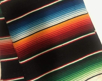 """New Creations Fabric & Foam Inc, 14"""" Wide by 84"""" Long Mexican Serape Cotton Table Runner"""