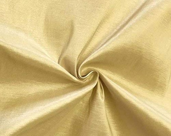 """Champagne 58"""" Wide Medium Weight Stretch Two Tone Taffeta Fabric, Sold By The Yard."""