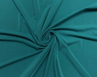 """Teal 58/59"""" Wide ITY Fabric Polyester Knit Jersey 2 Way  Stretch Spandex Sold By The Yard."""