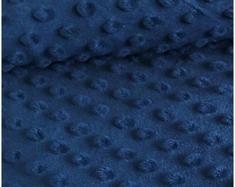 """Navy Blue 58"""" Wide 100%  Polyester Minky Dimple Dot Soft Cuddle Fabric SEW Craft Sold by The Yard."""