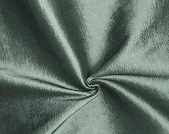 """Silver Gray 58"""" Wide Medium Weight Stretch Two Tone Taffeta Fabric, Sold By The Yard."""