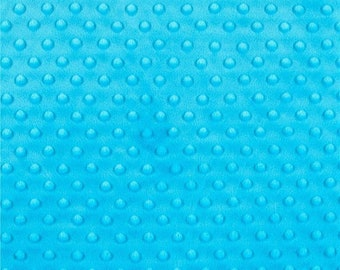 """Turquoise 58/59"""" Wide 100%  Polyester Minky Dimple Dot Soft Cuddle Fabric SEW Craft Sold by The Yard."""