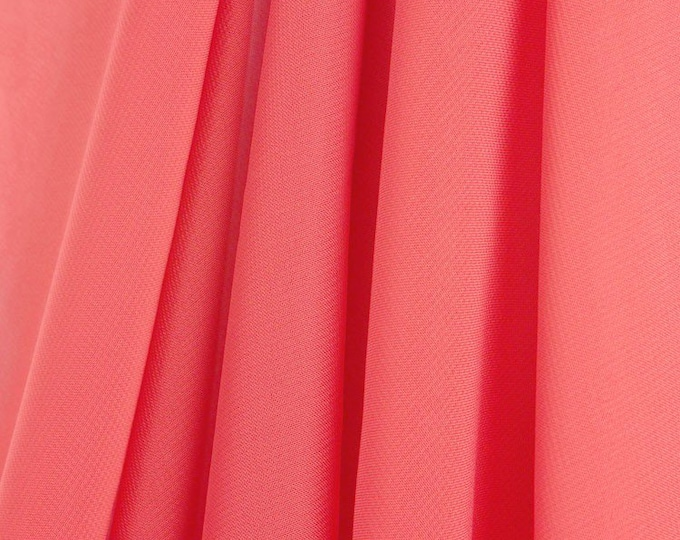 """Coral 58/60"""" Wide 100% Polyester Soft Light Weight, Sheer, See Through Chiffon Fabric Sold By The Yard."""