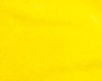 Yellow Minky Smooth Soft Solid Plush Faux Fake Fur Fabric Polyester- Sold by the yard.