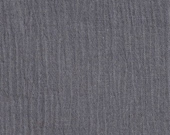 """Gray Cotton Gauze Fabric 100% Cotton 48/50"""" inches Wide Crinkled Lightweight Sold by The Yard."""