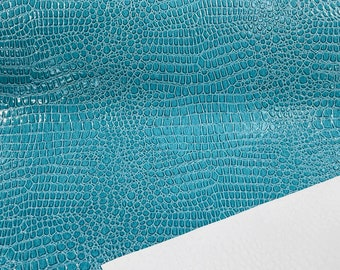 Faux Crocodile Vinyl Embossed 3D Scales-Faux Leather-Sold By Yard