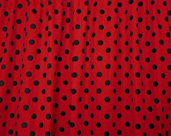 """New Creations Fabric & Foam Inc, 60"""" Wide Polka Dot Poly Cotton Print Fabric By The Yard"""