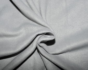 """Silver Solid Polar Fleece Fabric Anti-Pill 58"""" Wide Sold by The Yard."""