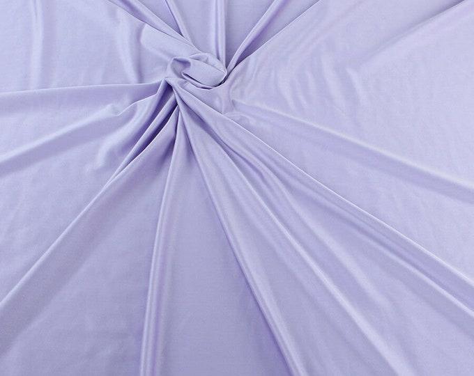 "Lavender Shiny Milliskin Nylon Spandex Fabric 4 Way Stretch 58"" Wide Sold by The Yard"