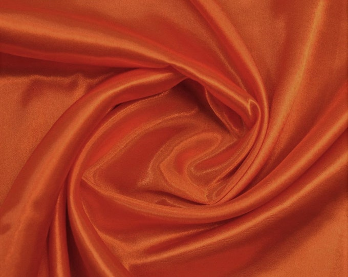 """Cinnamon Heavy Shiny Bridal Satin Fabric for Wedding Dress, 60"""" inches wide sold by The Yard."""