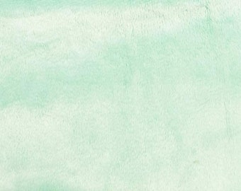 Icy Mint Minky Smooth Soft Solid Plush Faux Fake Fur Fabric Polyester- Sold by the yard.