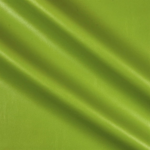 Citrus Green 95 Percent  Polyester 5% Spandex, 58 Inches Wide Stretch L'Amour Satin Fabric, Sold By The Yard.