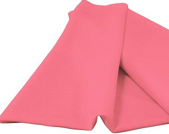 """Hot Pink 60"""" Wide 100% Polyester Spun Poplin Fabric Sold By The Yard."""