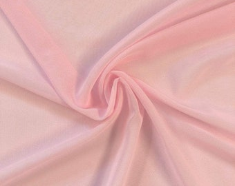 """Pink 58/60"""" Wide 100% Polyester Soft Light Weight, Sheer, See Through Chiffon Fabric Sold By The Yard."""