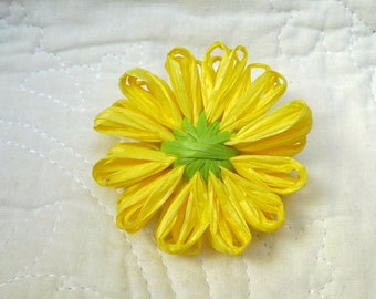 Yellow flower pin etsy yellow flower pin hat pin spring flower scarf pin mightylinksfo