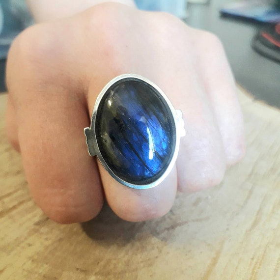 New Solid 925 Silver /& Turquoise Stone Ring UK size P