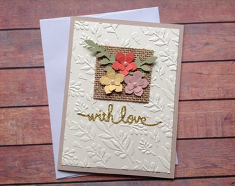 Homemade cards etsy floral cardsany occasion card birthday card blank handmade card greeting cards homemade cards m4hsunfo