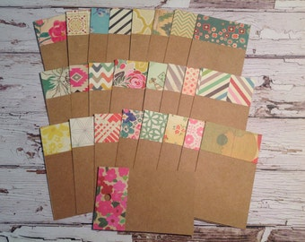 kraft cardstock tags, handmade kraft tags, Crate Paper tags, business cards, place cards, thank you tags, set of 25 tags