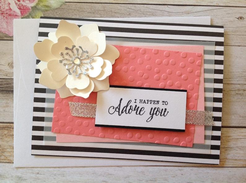Handmade Card Blank Card Love Card Birthday Card Valentine S Day Card Handmade Homemade Cards