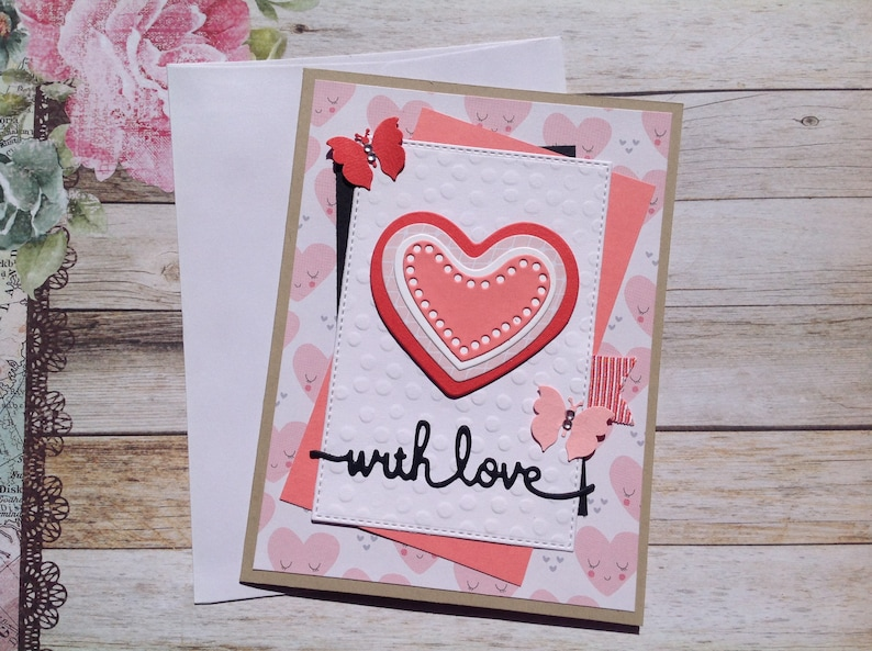 Love Cards Birthday Card Blank Handmade Card Anniversary Cards With Love Card Greeting Cards Homemade Cards