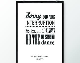 Dirty Dancing A3 print