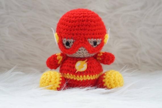 Crochet Toy FLASH Amigurumi comic's character - FETEBE   381x570