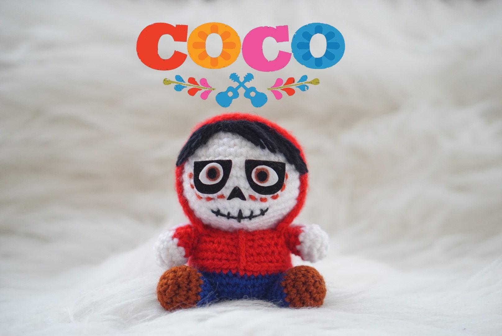 Miguel Coco Disney Amigurumi Patrón Pixar Película Rivera   Etsy