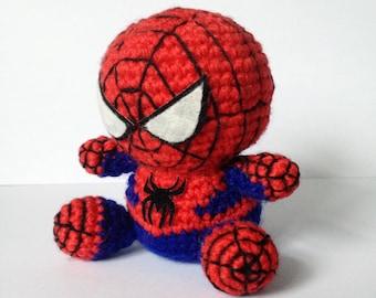 SPIDERMAN  Amigurumi Pattern SuperHero Spider Marvel Easy DIY PDF Crochet Tutorial