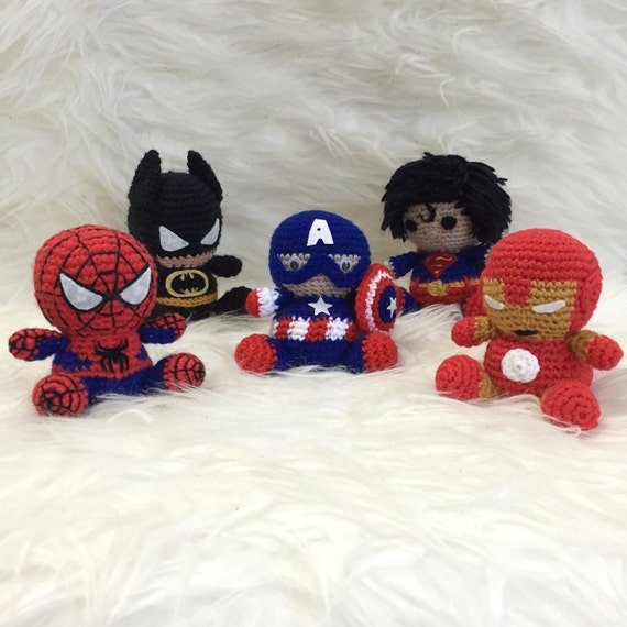 Pack 5 in 1: Captain America Ironman Spiderman Batman Superman | Etsy