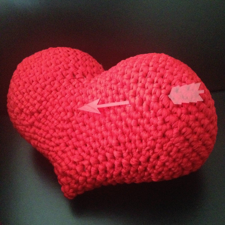 Atractivo Patrones De Crochet Manta De Bebé Libre De Corazón Rojo ...