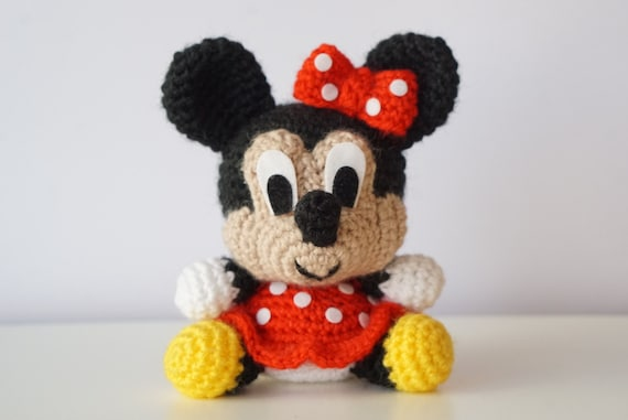 Crochet doll in Minnie Mouse costume - Amigurumi Today | 381x570