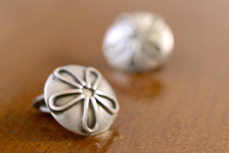 unisex 1960s unique vintage silver cufflinks