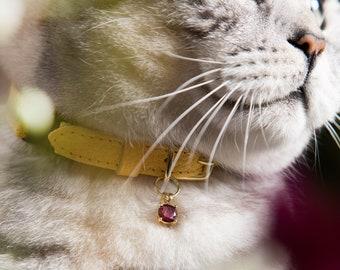 Garnet Gem - Cat Collar Charm