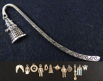 Doctor Who bookmark with the charm of your choice.