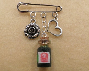 Shakespeare Romeo and Juliet kilt pin brooch (38mm)