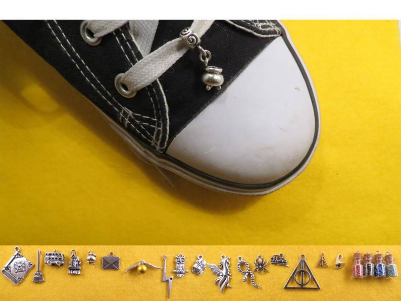 Wizard shoe charm of your choice.