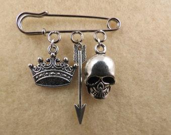 Shakespeare Hamlet kilt pin brooch (38mm)