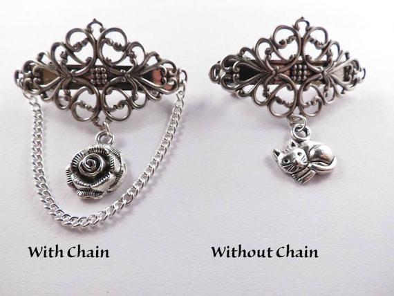 Anillos Bolsa Alicia en el país de las maravillas Seguridad Pin broche encanto Kit Bronze Charms