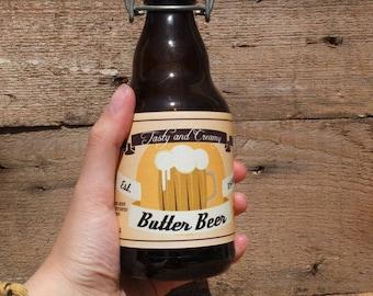 Printable Butter Beer Labels | DIY Butterbeer Label | Instant Download | Digital PDF Butter Beer Label