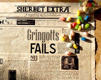 Magical Vintage Newspaper Poster - Geek Wall Decor - News from the Wizarding World