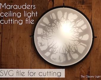 The Marauders SVG cut file for IKEA KATTARP ceiling light | Sirius Black, Remus Lupin, James Potter and Peter Pettigrew