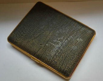Vintage leather Cigarette case Made in w.Germany