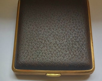 Vintage Brown leather Cigarette case Made in W.Germany