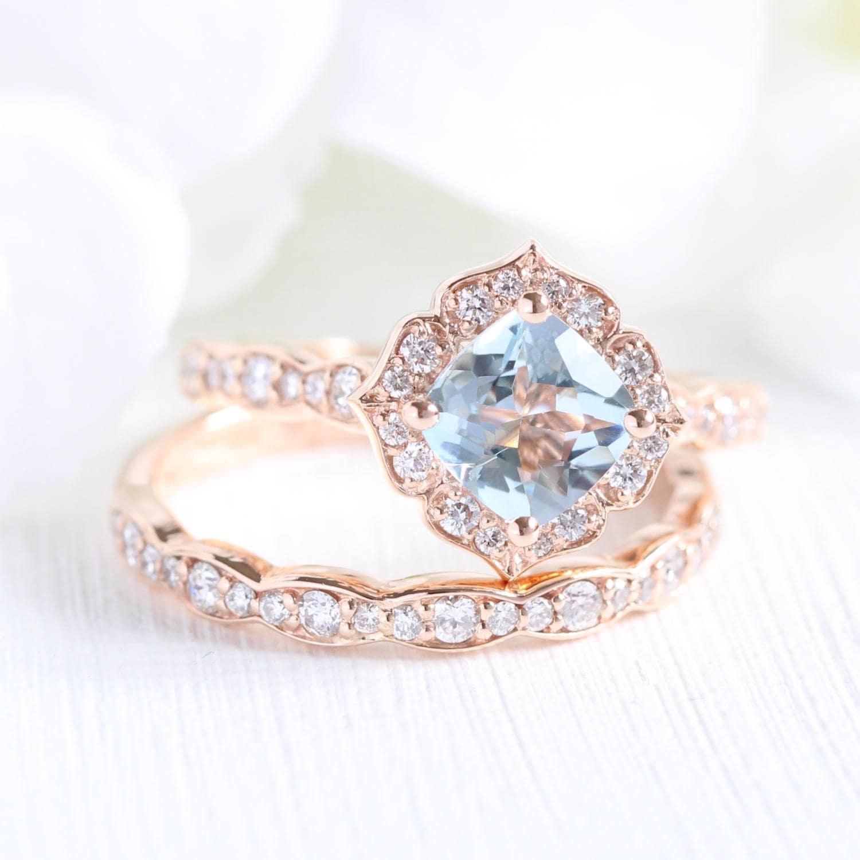 50: Vintage Aquamarine Wedding Ring At Websimilar.org
