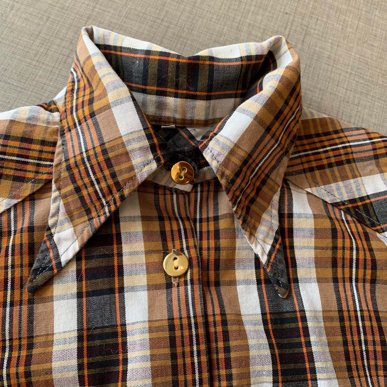 1970/'s does 1940/'s Western Style Three Piece Set Skirt Tartan Shorts 24 waist Jacket Plaid Size XS
