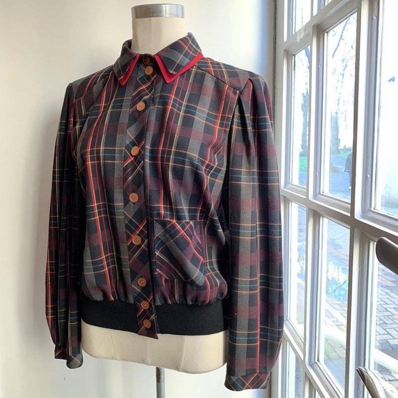 Rockabilly 1940\u2019s Style Tartan Plaid Lightweight Sports Jacket