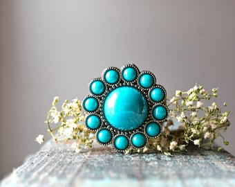 """Screwback Concho 1.5"""" Beaded and Beautiful 1 piece/pack"""